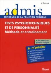 telecharger Tests psychotechniques et de personnalite – je m'entraine (2e edition) livre PDF en ligne gratuit