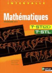 INTERVALLE ; mathématiques ; STI 2d, STL - Couverture - Format classique