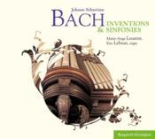 Bach; inventions et sinfonies - Couverture - Format classique