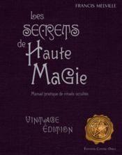 Les secrets de hautes magie - Couverture - Format classique