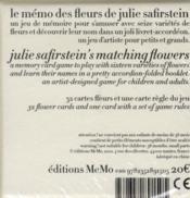Mémo des fleurs - 4ème de couverture - Format classique