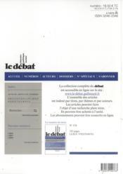 Revue Le Débat N.174 - 4ème de couverture - Format classique