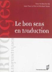 Le bon sens en traduction - Couverture - Format classique