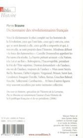 Dictionnaire des révolutionnaires français - 4ème de couverture - Format classique