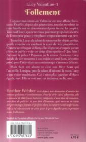 Lucy valentine t.1 ; follement - 4ème de couverture - Format classique