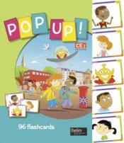 POP UP ! ; CE2 ; flashcards - Couverture - Format classique