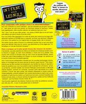 Internet Pour Les Nuls ; 6e Edition - 4ème de couverture - Format classique