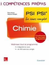 COMPETENCES PREPAS ; chimie ; 2e année PSI PSI - Couverture - Format classique