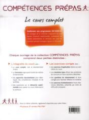 COMPETENCES PREPAS ; chimie ; 2e année PSI PSI - 4ème de couverture - Format classique