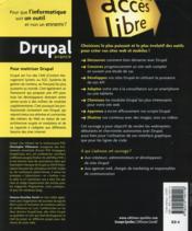 Drupal avancé ; un CMS pour développeurs - 4ème de couverture - Format classique