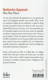 Blue Bay Palace - 4ème de couverture - Format classique