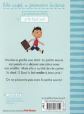 Le petit Nicolas T.25 ; la petite souris est passée ! - 4ème de couverture - Format classique