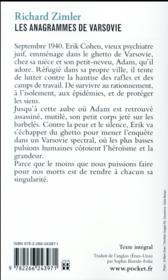 Les anagrammes de Varsovie - 4ème de couverture - Format classique