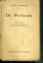 De Profundis - Adapte Du Grec Par A. Protopazzi Et Louis Carle Bonnard - Couverture - Format classique