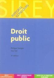 Droit public (15e édition) - Intérieur - Format classique