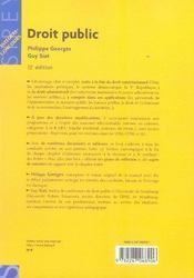 Droit public (15e édition) - 4ème de couverture - Format classique