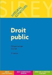 Droit public (15e édition) - Couverture - Format classique