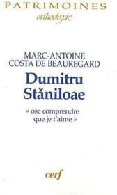 Dumitru staniloae - Couverture - Format classique