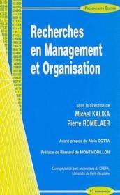 Recherche en management et organisation - Couverture - Format classique