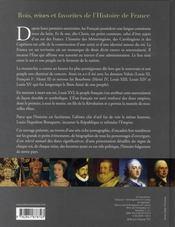 Rois, reines et favorites de l'histoire de france (édition 2006 - 4ème de couverture - Format classique