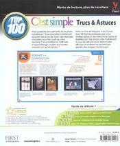 La Photographie Numerique ; Top 100 Trucs Et Astuces - 4ème de couverture - Format classique