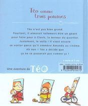 Teo Comme Trois Pommes - 4ème de couverture - Format classique
