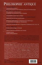 Revue Philosophie Antique N.6 ; Lire Et Interpréter Platon - 4ème de couverture - Format classique