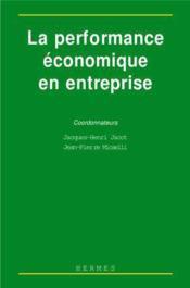 La performance economique en entreprise - Couverture - Format classique