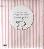 L'album de bébé fille - 4ème de couverture - Format classique
