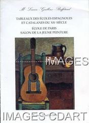 TABLEAUX DES ECOLES ESPAGNOLES ET CATALANES DU XXE SIECLE. ECOLE DE PARIS. SALON DE LA JEUNE PEINTURE. [DEYROLLE. SACHS. URTIN. PASTOR. RAIMBAULT. MOALLA. SEROLES. DAT. TUSQUELLAS. ,,]. 05/07/1999. (Poids de 88 grammes) - Couverture - Format classique