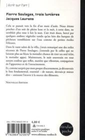 Pierre Soulages ; trois lumières - 4ème de couverture - Format classique