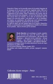 Notre dame des oasis ; Geneviève Clancy ; la beauté résistante - 4ème de couverture - Format classique