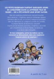 Les petits rugbymen t.3 ; mystère à Rugby - 4ème de couverture - Format classique