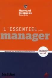 L'essentiel pour manager - Couverture - Format classique