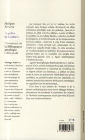 La police de l'écriture - 4ème de couverture - Format classique