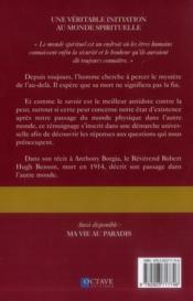 Le paradis retrouvé ; une véritable initiation au monde spirituel - 4ème de couverture - Format classique