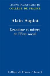 Grandeur et misère de l'Etat social - Couverture - Format classique