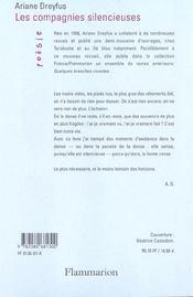 Les Compagnies Silencieuses Suivi De La Saison Froide - 4ème de couverture - Format classique