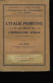 L'Italie Primitive Et Les Debuts De L'Imperialisme Romain. - Couverture - Format classique