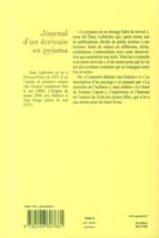 Journal d'un écrivain en pyjama - 4ème de couverture - Format classique