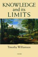 Knowledge And Its Limits - Couverture - Format classique
