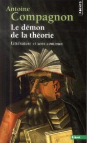 Le démon de la théorie ; littérature et sens commun - Couverture - Format classique