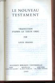 Le Nouveau Testament - Couverture - Format classique