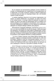 Autoritarisme, presse et violence au Cameroun - 4ème de couverture - Format classique