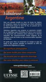 Fabuleuse Argentine (édition 2014) - 4ème de couverture - Format classique