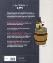 Ma première cave - 4ème de couverture - Format classique