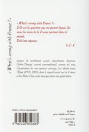 What's wrong with France ? - 4ème de couverture - Format classique