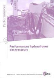Performances hydrauliques des tracteurs performances 9q80 - Couverture - Format classique