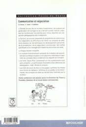 Communication Et Negociation - 4ème de couverture - Format classique