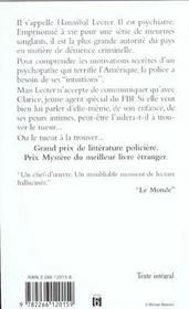 Le Silence Des Agneaux - 4ème de couverture - Format classique